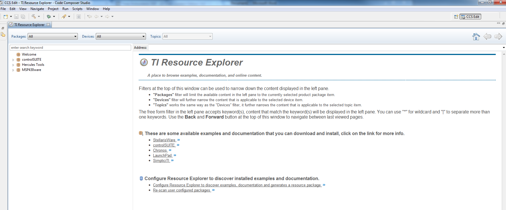 TI Resource Explorer- Give it a try and tell us what you
