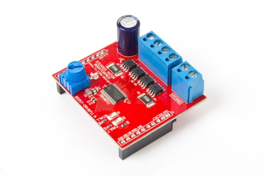 Learn more about brushed dc motors with the boost drv8848 for Ti stepper motor driver