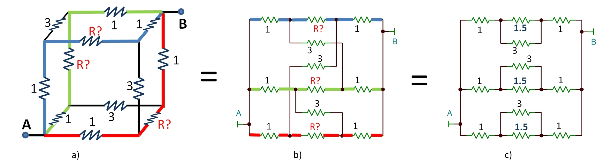 Resistor Puzzle Solution And A Rant On Schematics The Signal Here Is Schematic Of My Version Circuit Picture