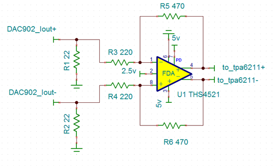 about ths4521 audio application issue high speed amplifiers forum rh e2e ti com