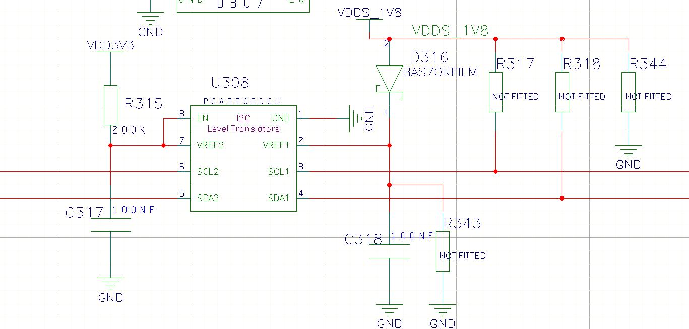 Pca9306 Level Translator Problem Interface Forum Ti I2c Shifter Circuit Image Search Results As You Can See We Do Not Have Vref2 Directly Connected To The 3v3 Voltage Rail I Did Lie About Exactness Of Our Schematic Compared Datasheet
