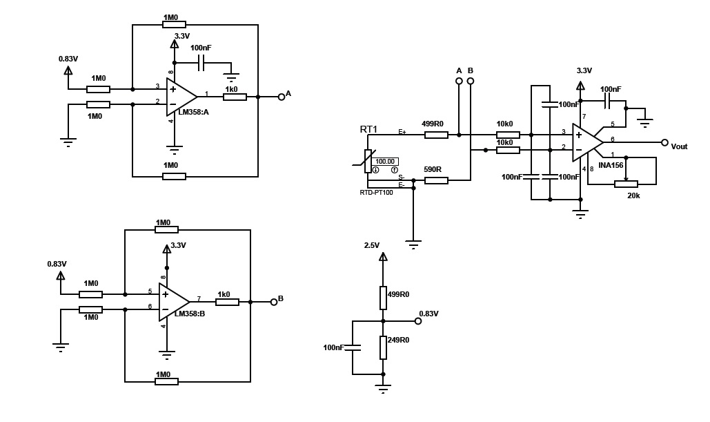 Resolved Ina156 S Gain On A 3 Wire Pt100 Circuit Amplifiers Forum Amplifiers Ti E2e Support Forums