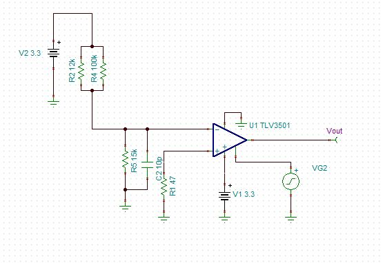 the circuit of pulse generation using tlv3501 and opa357