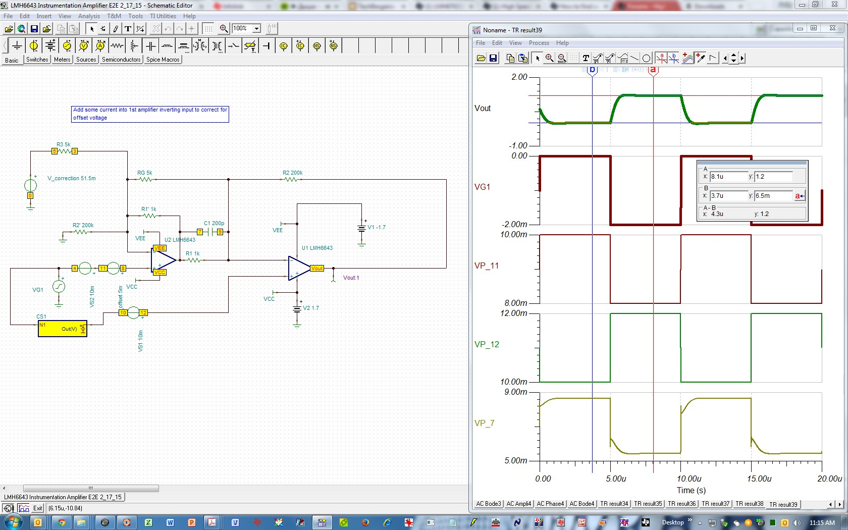 How To Find Source And Range Of Gain Independent Output Voltage Opamp Offset Null Ive Intentionally Added 5mv The 1st Stage V Corrected For It At By Proper Choice Correction R3