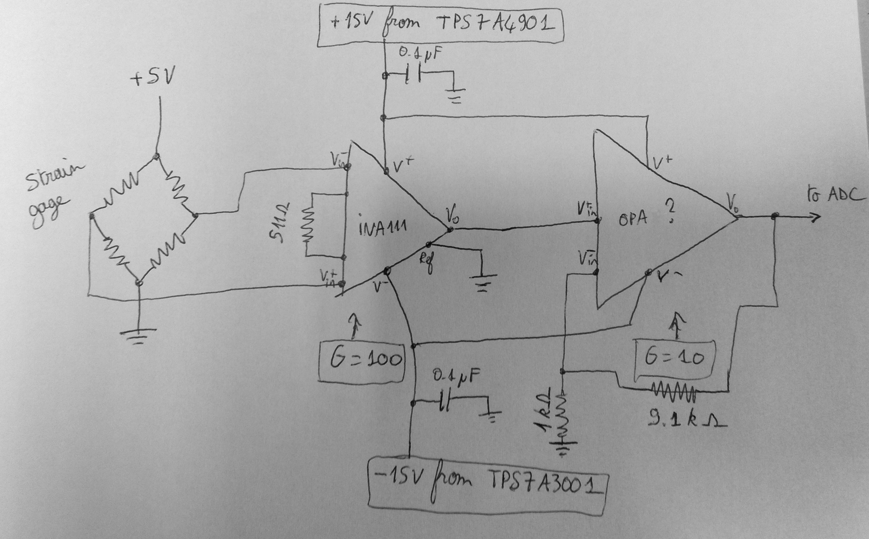 Load cell amplifier (INA111 + OPA) - Precision Amplifiers Forum ...