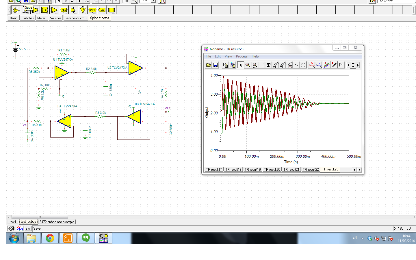 bubba oscillator damped output amplifiers forum amplifiersi am also attaching the snapshot and the schematic file