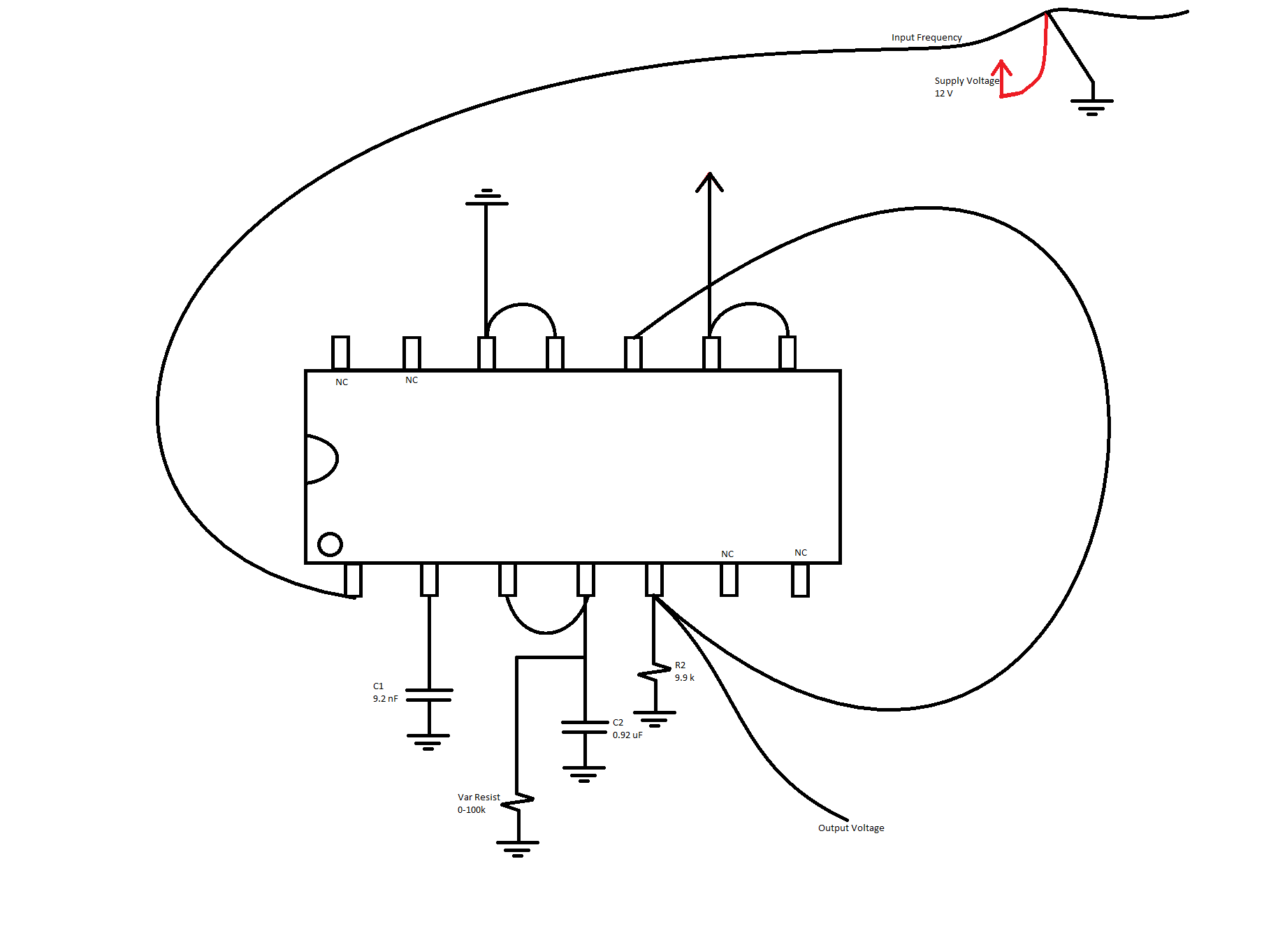resolved  lm2907-n  creating a simple frequency to voltage converter circuit