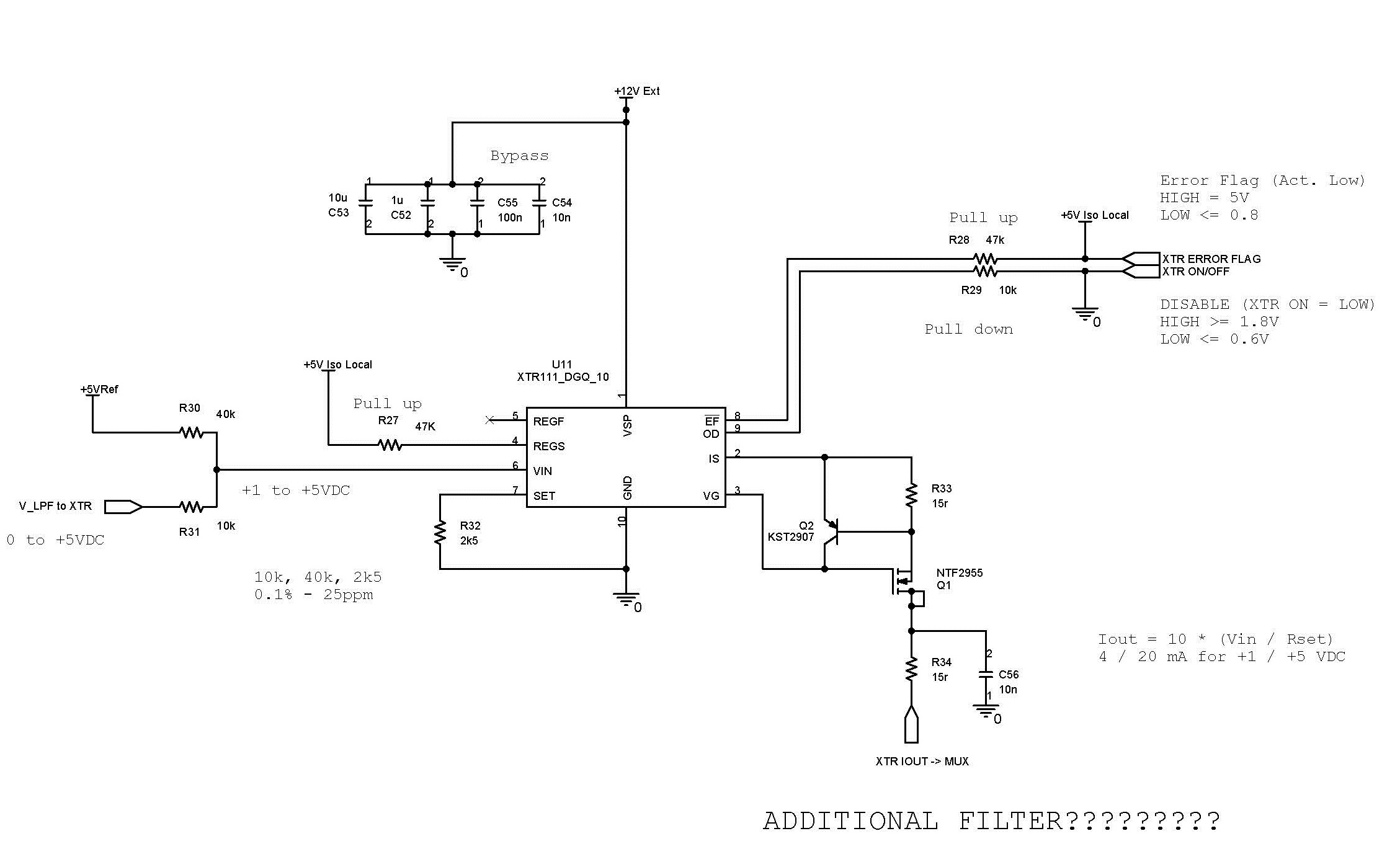Resolved Xtr111 Additional Filter Amplifiers Forum Highspeed Amplifier Circuits Analog Wire Blogs Ti E2e Community I Did Not Understand The Suggested In Datasheet Pg 16 Figure 41 Shown Below It Was Poorly Explained And Circuit Is Somewhat