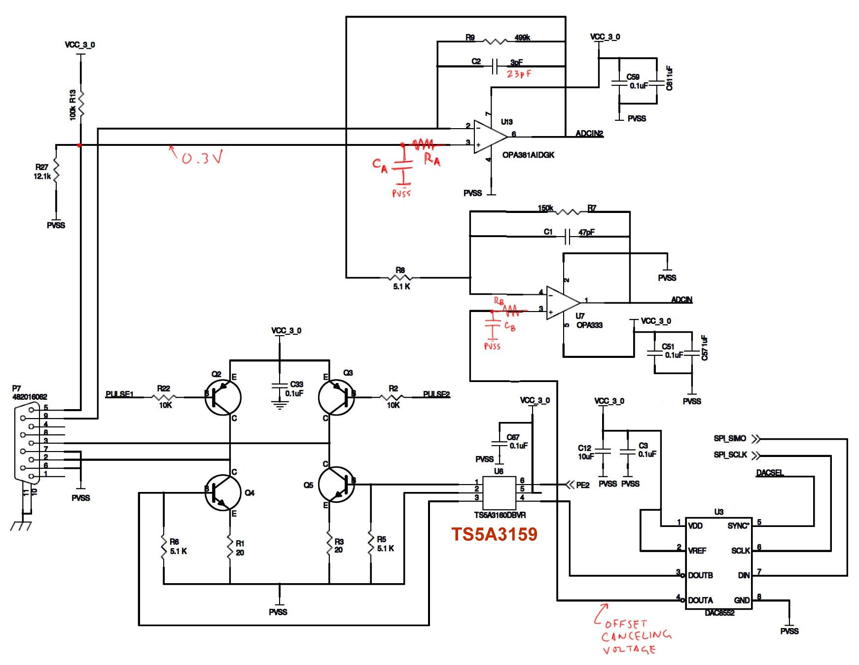 Resolved Transimpedance Amp Output Is Unstable Amplifiers Forum Proposed Amplifier Schematic Ti E2e Community