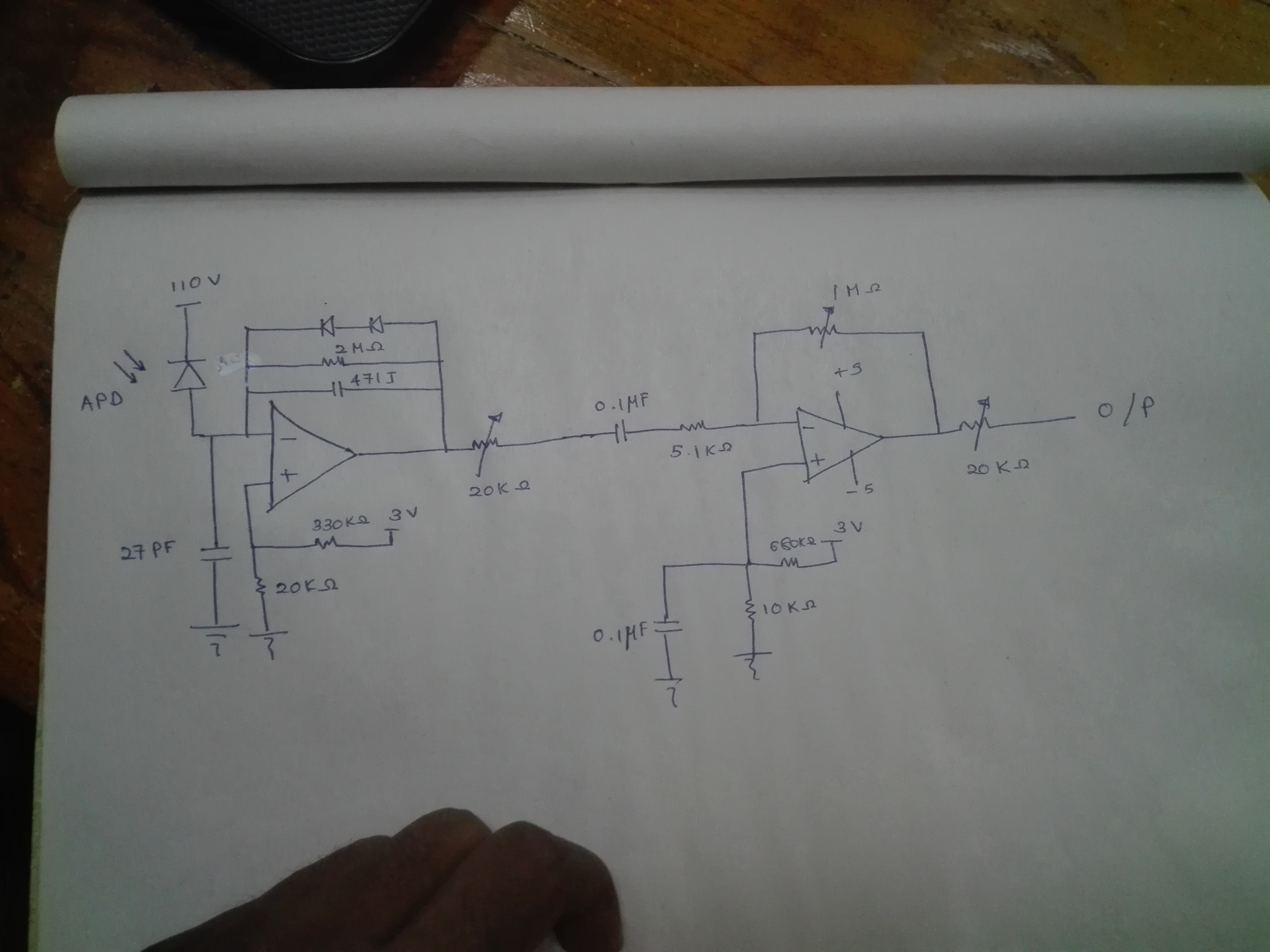 Opa656 Transimpedance Amplifier Amplifiers Forum Proposed Schematic