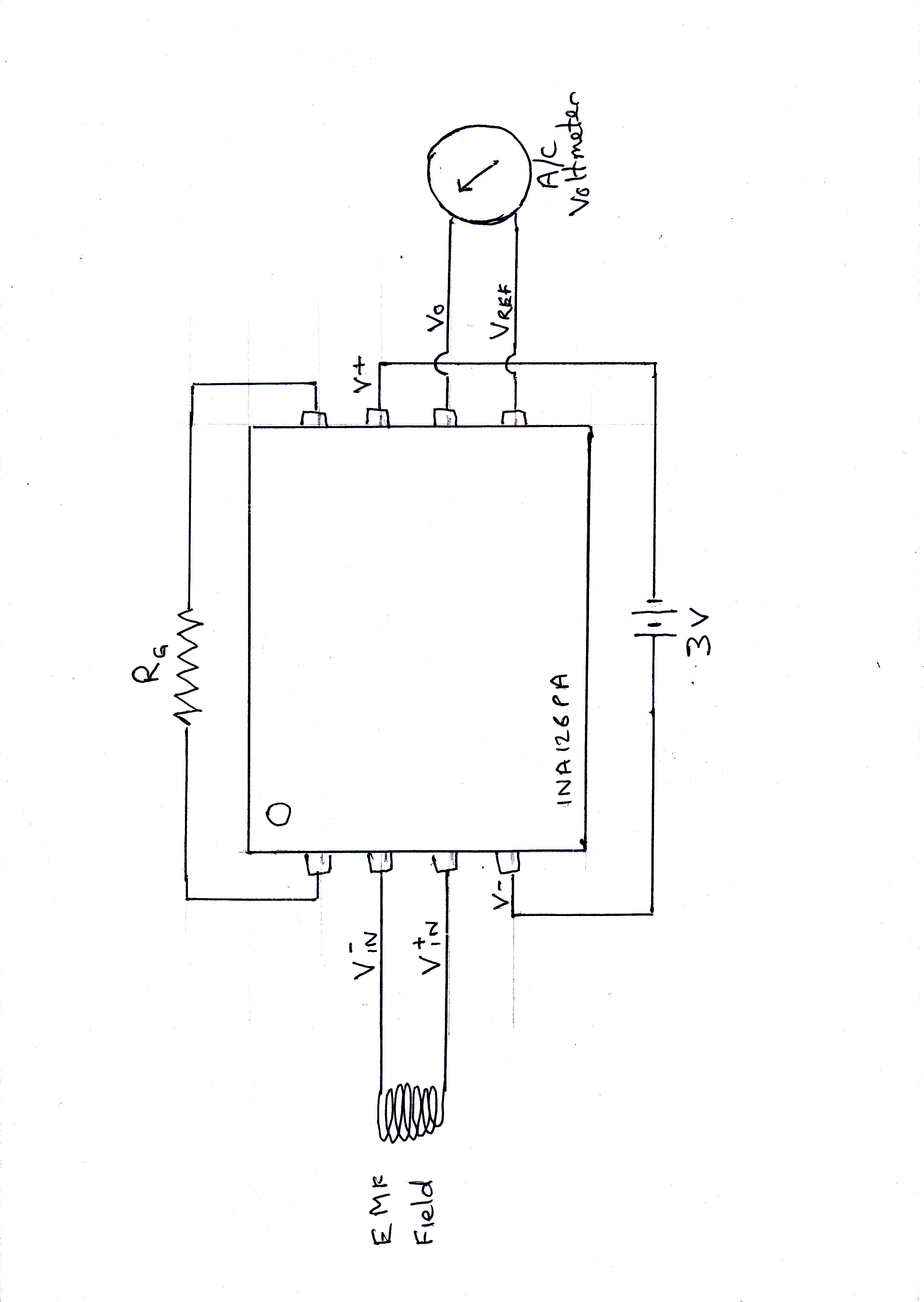 Resolved Ina126 Amplifying A Very Small C Voltage Amplifiers Instrumentation Amplifier Circuit Diagram Alan