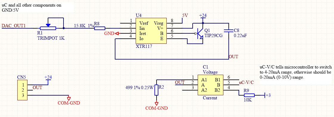XTR117: 4-20mA 2-wire with 0-10V 3-option - Amplifiers forum ... on analog wiring diagram, rtd wiring diagram, thermistor wiring diagram, pwm wiring diagram, canopen wiring diagram, rs485 wiring diagram, light wiring diagram, rs-232 wiring diagram, npn wiring diagram, pt100 wiring diagram, potentiometer wiring diagram, pressure wiring diagram, 4 20ma wiring diagram, pnp wiring diagram, modbus wiring diagram, pulse wiring diagram, fluorescent wiring diagram, thermocouple wiring diagram, bridge wiring diagram, dry contact wiring diagram,