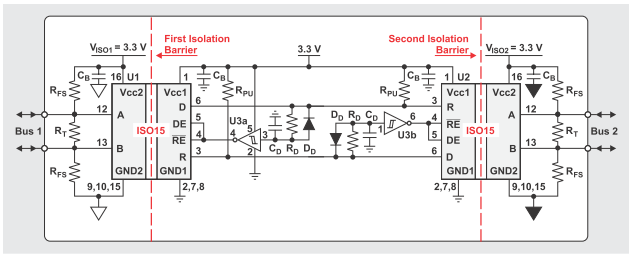 last question, is it feasible to use this 3 3v repeater in a 5v bus?