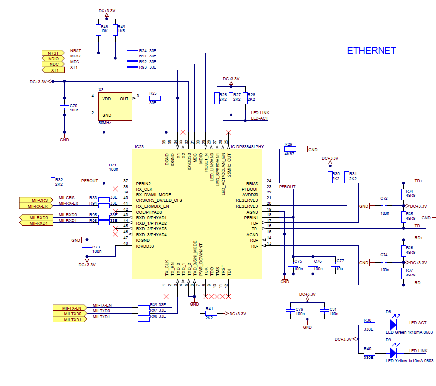 Resolved] the schematic of DP83848IVV - Industrial Interface Forum ...