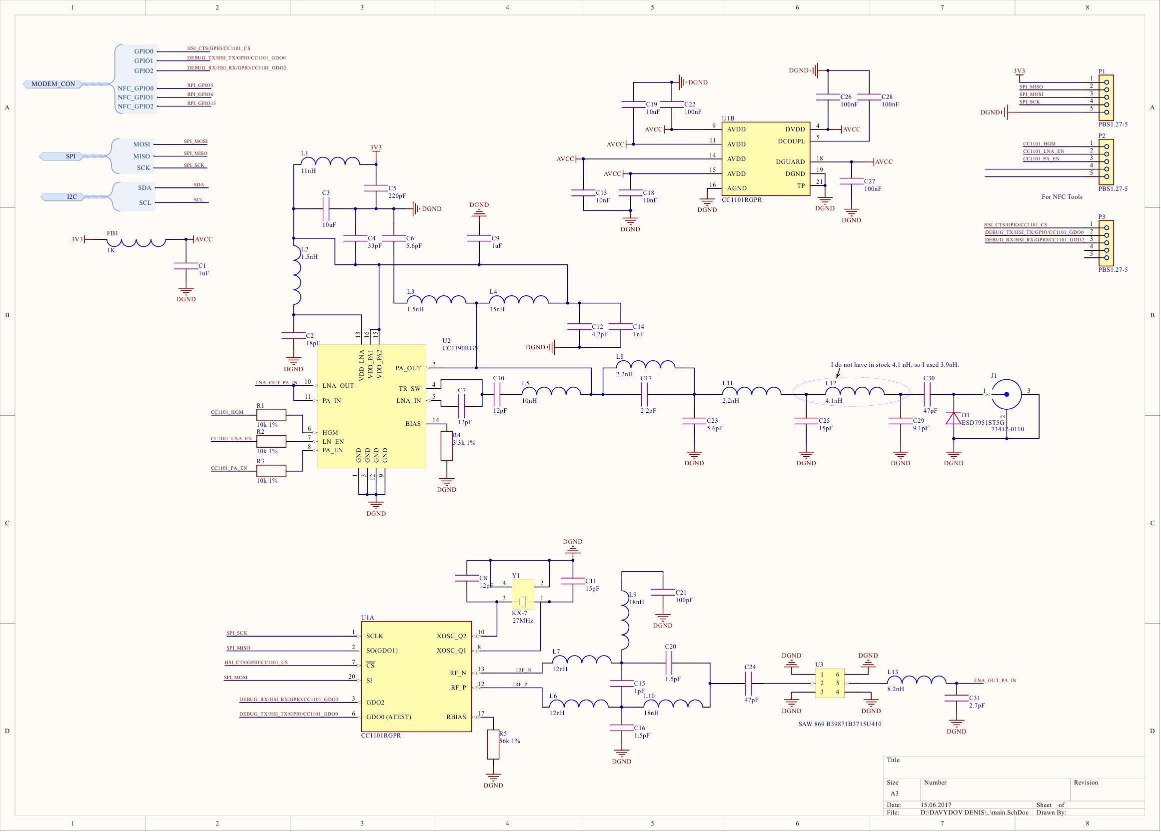 Linux Cc1101 Cc1190em869rd Cc1190 Frequency Spread Sub 1 Pi Thread Wiringpi Pcb 2 Layer