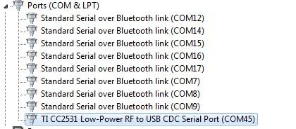 serial port-cc 2531 communication - Zigbee & Thread forum - Zigbee