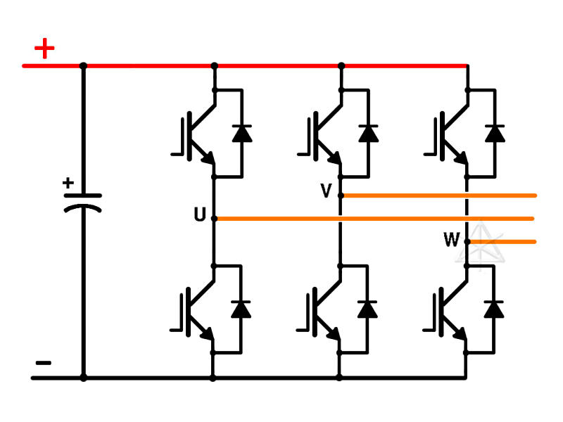 3 Phase Motor Inverter Circuit Diagram