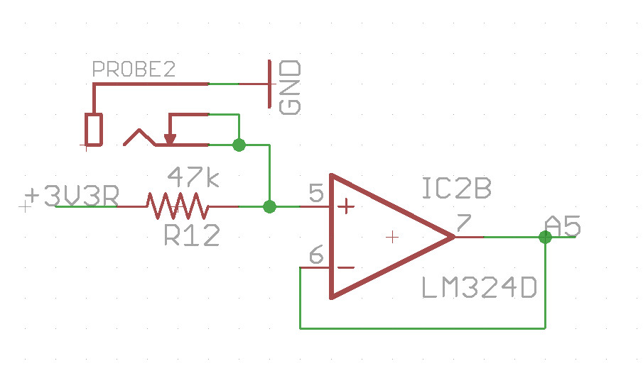 Lm324 Lm324 Giving Floating Output When No Inputs At The Probe