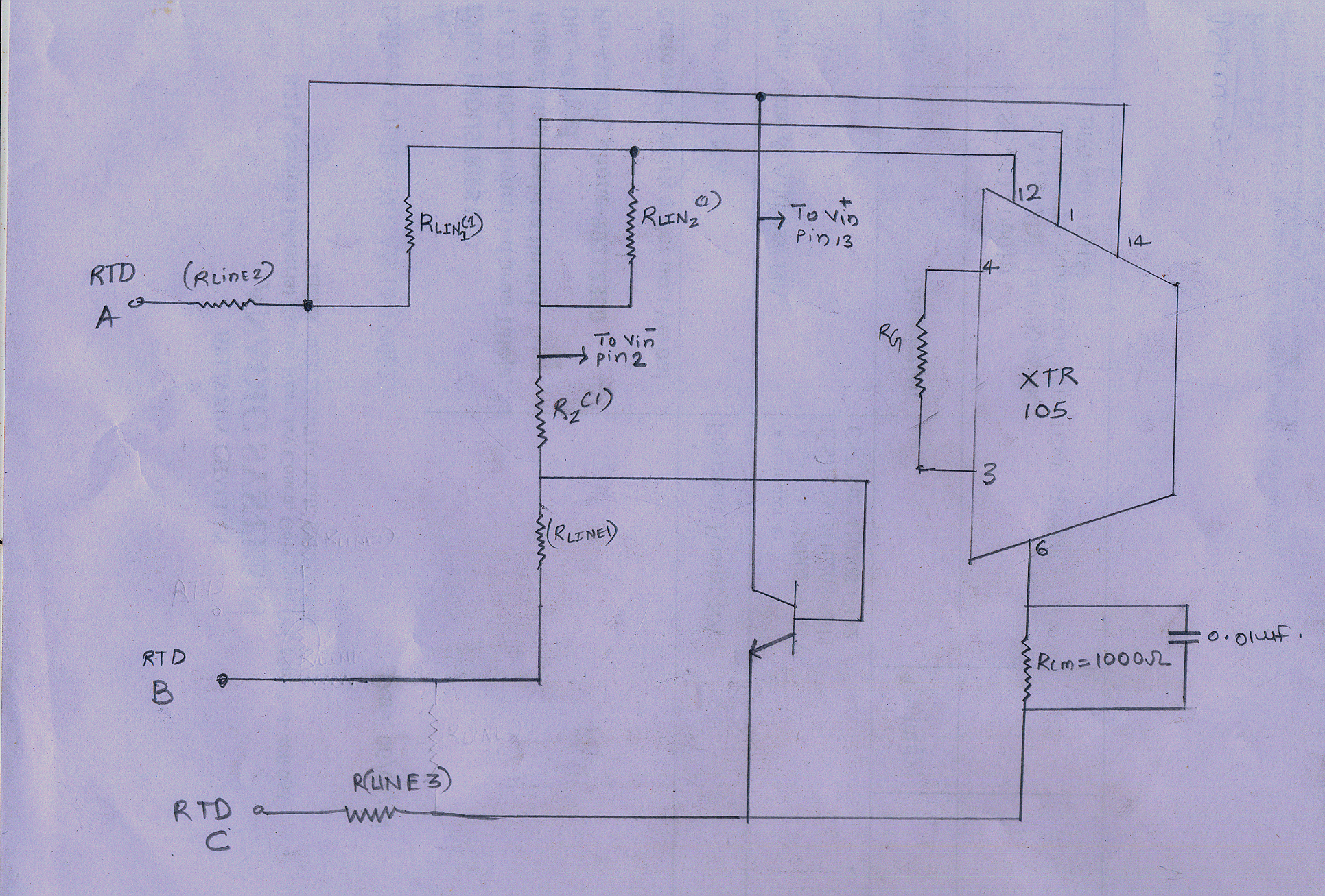 Resolved Pt100 3 Wire Rtd Using Xtr105 Amplifiers Forum Wiring Diagram I Am Attaching The Schematic Of My Ckt Checked For Offset Between Two Inputs But There No Observed