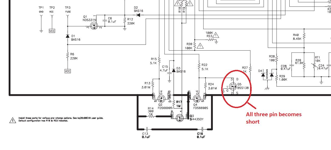 external dsg mosfet short - battery management
