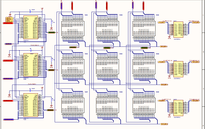 RGB matrix driver schematic verification - Power management forum
