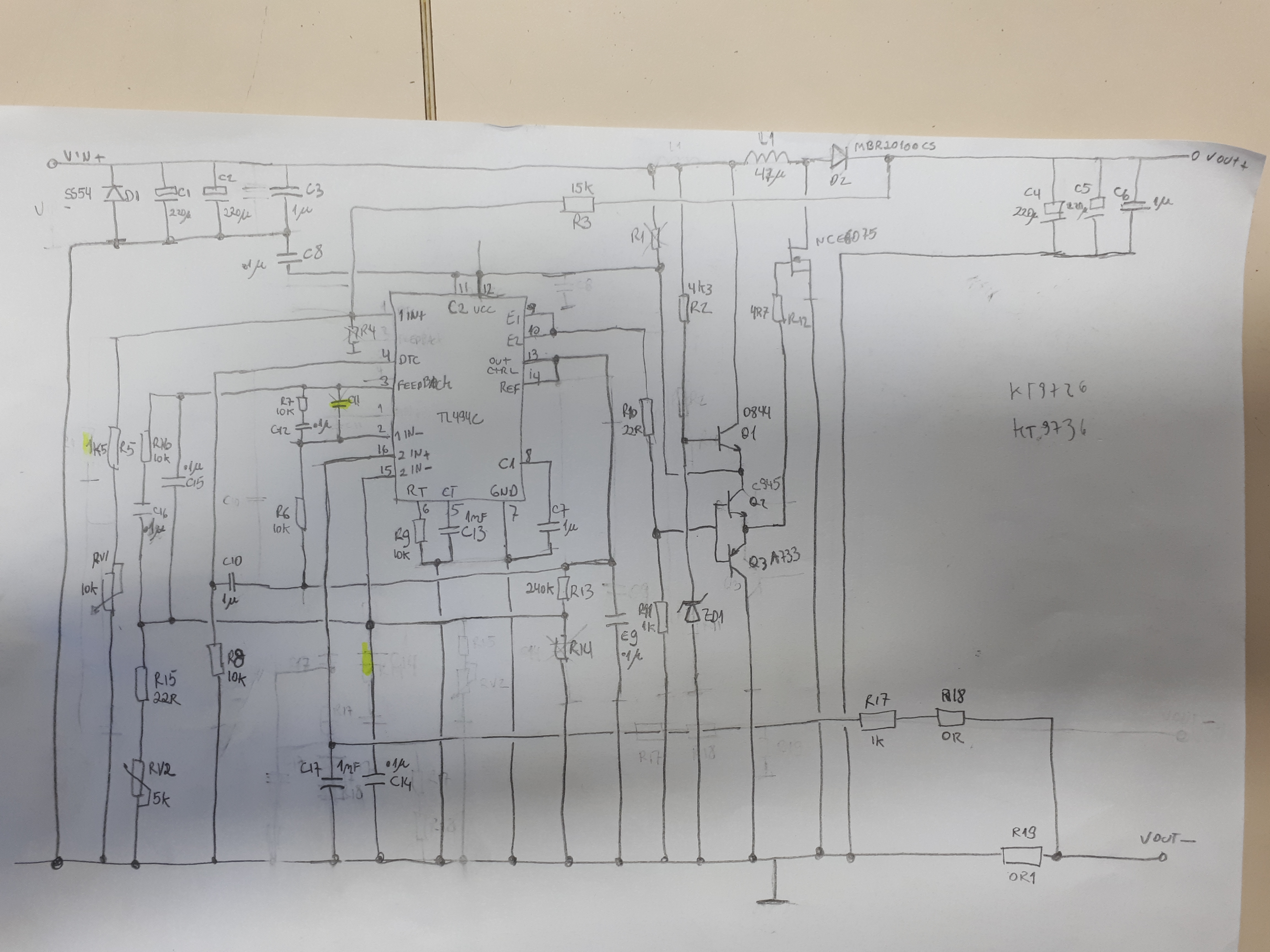 Tl494 Dc Converter Metal Core Constant Current 200w Cheap High Voltage Low To Invertercircuit Diagram World I Configura The Soft Start Around 05s Instead Recomended 50 100 Cycles Of Clock If Not My Problem Is Solved Please See Below