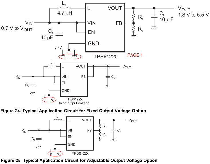 a symbol in circuit diagram for a wire [resolved] tps61222: two-ground symbol in schematic? - power management forum - power management ...