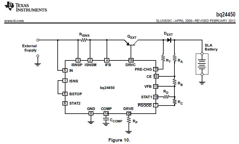 Bq24450 Bq24450 24v Lead Acid Battery Charger Circuit Resistors
