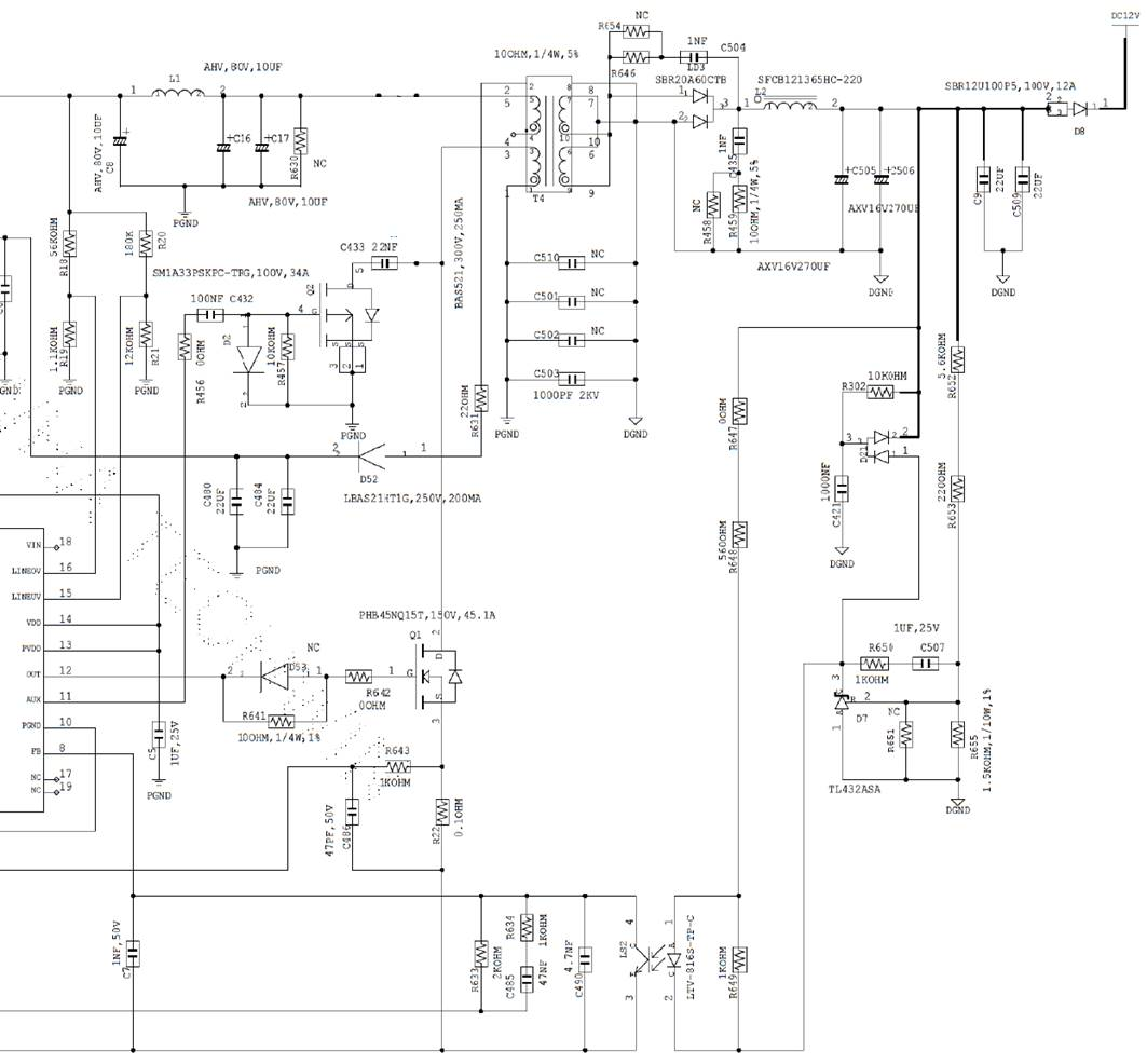 Ucc2897a Inquiry For The Relationship Between Main Fet Switching Inductance Measuring Circuit Diagram And Each Measurement Point Are Shown Below