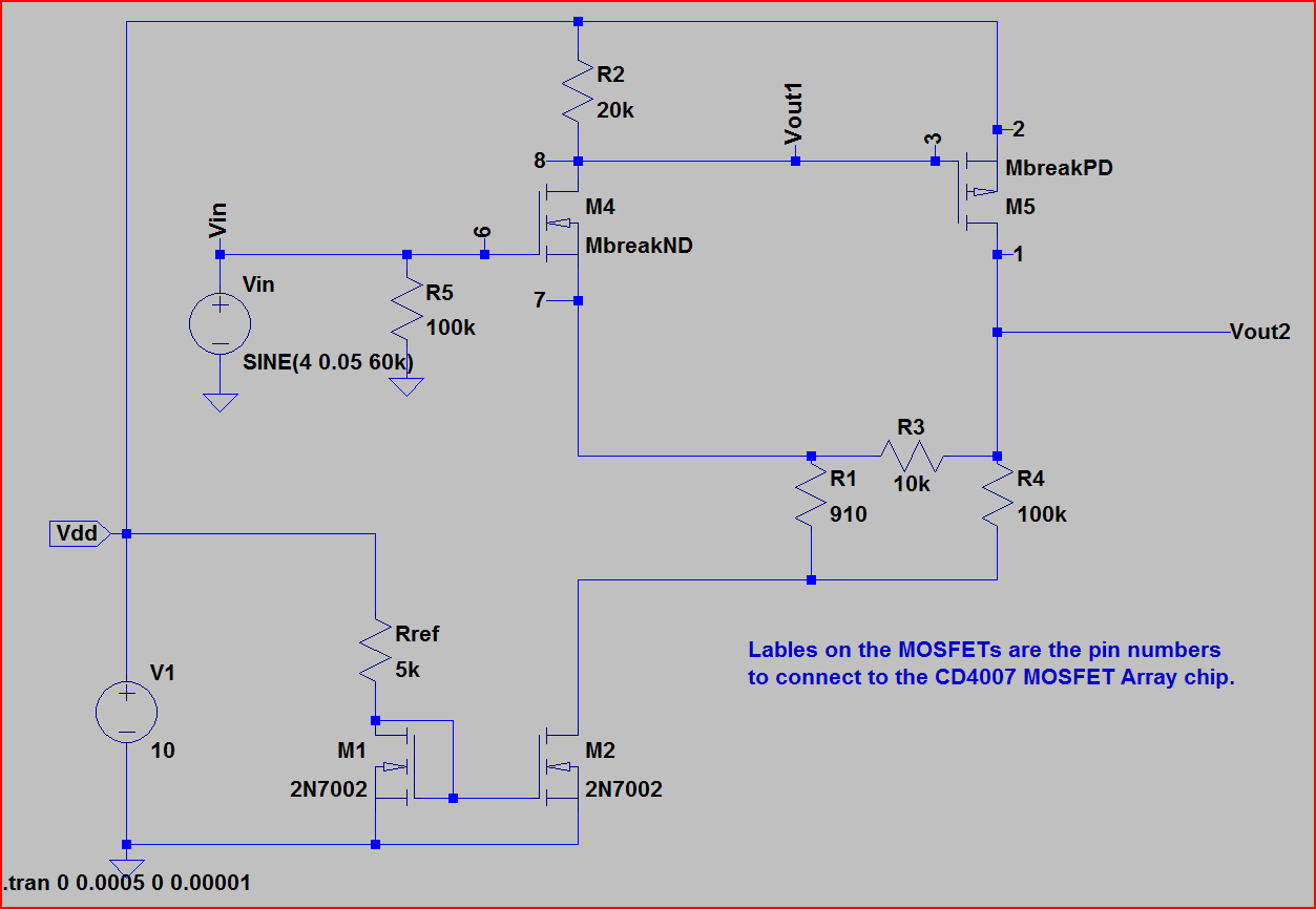 Resolved Spice Model For Cd4007ub Simulation Hardware System Your Own Multisim Like Circuit Design And Application Alex