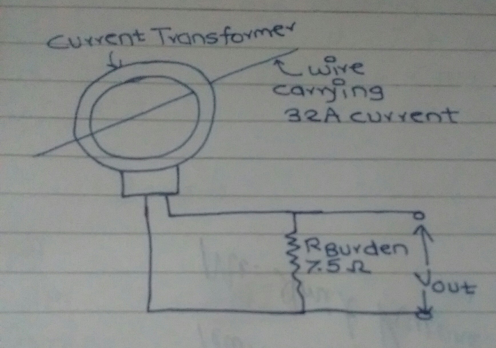 Tina Spice Dont Find Any Way To Create And Insert A Ctcurrent Instrument Transformer Wiring Diagram It Has Current Rating Of 32 I Want Measure This Convert Into Proportional Voltage Using Ct