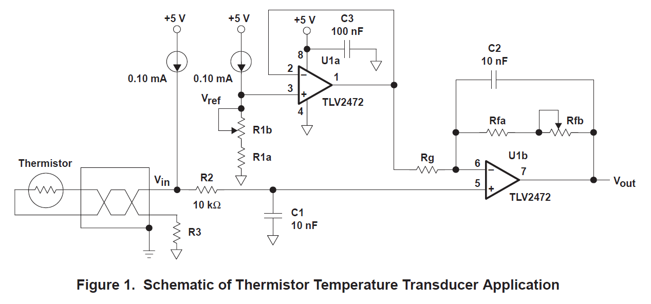 3000.2 thermistor circuit design based on reference sloa052 and sboa097 ntc thermistor circuit diagram at mifinder.co