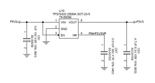 resolved  tps79333 output shorted to input