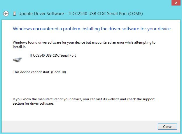 Usb cdc serial port driver
