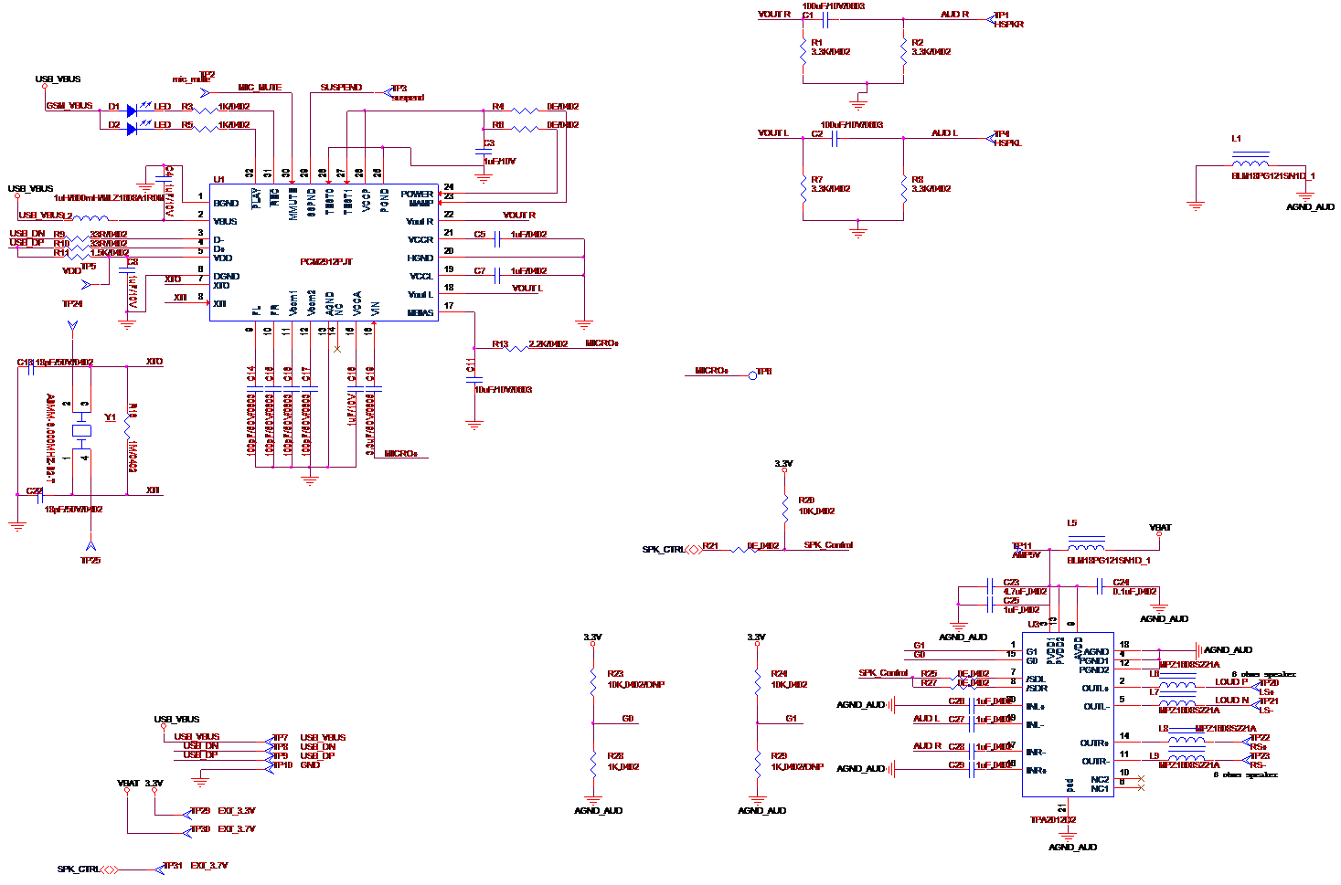 Pcm2912a Unable To Play Sounds With And Ic Also Getting Aldl Usb Schematic Attached