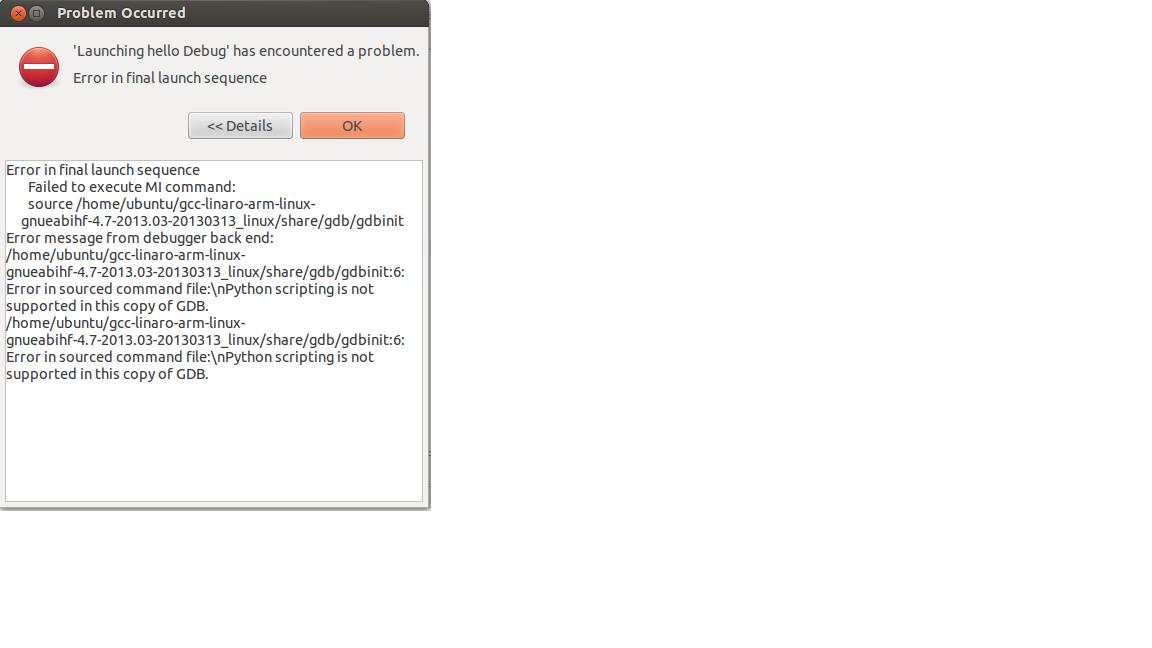 Resolved] Debugging linux app with Gdbserver on K2H evm