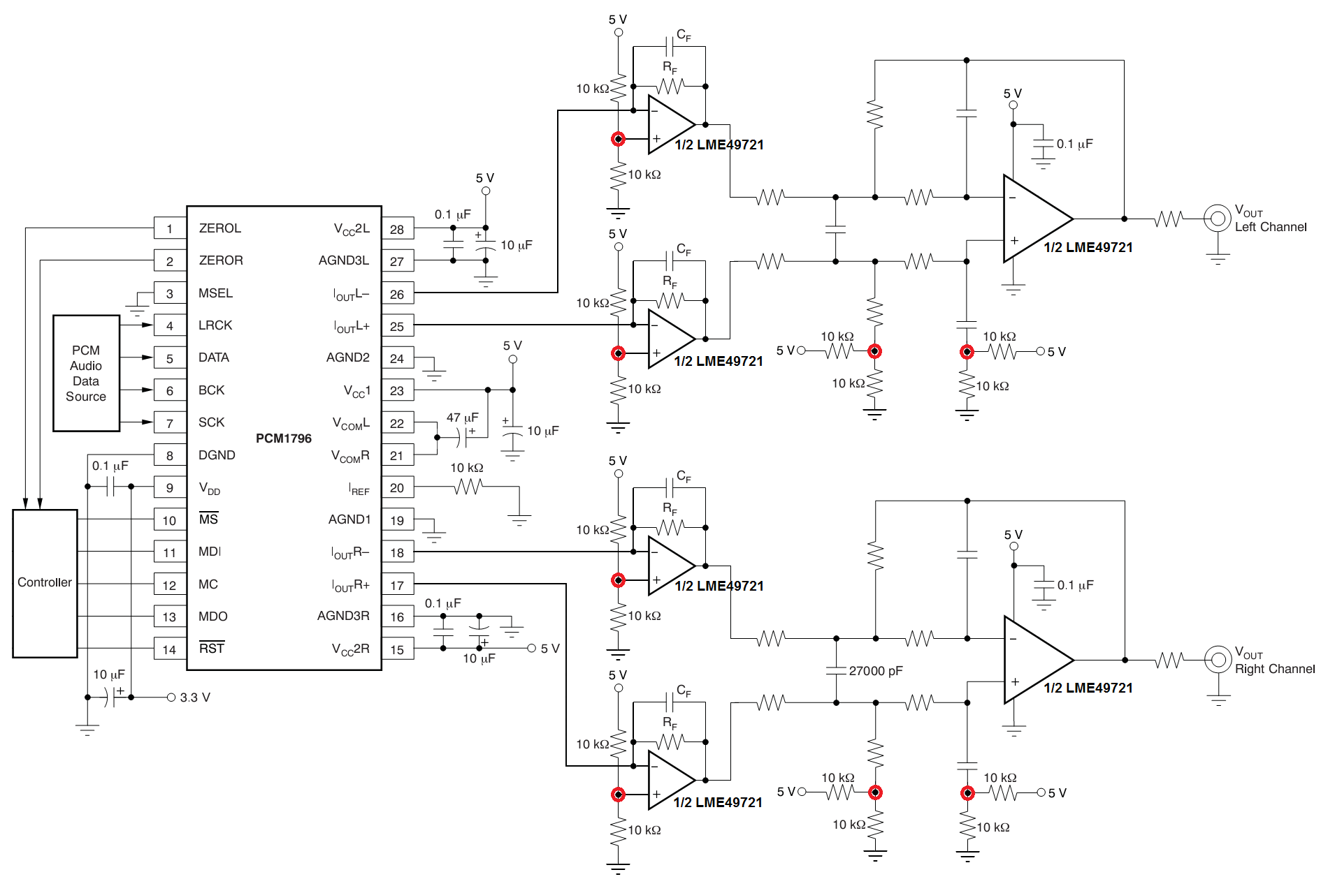Pcm1795 Application Audio Forum Ti E2e Community Single Supply Op Amp Design What You Need To Do For Is Offer A Virtual Ground Usually Half Voltage In Order Improve The Driver Capacity