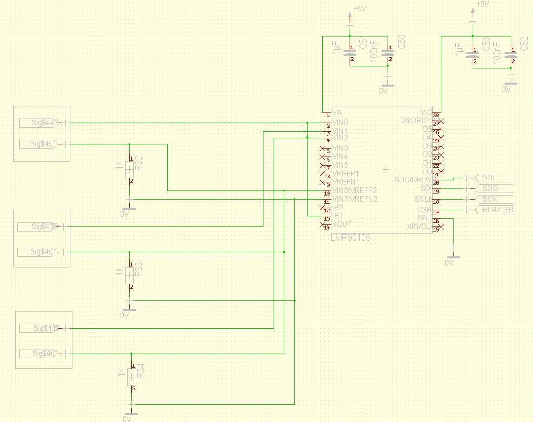 how to connect three wire rtd in the same lmp precision use the all 3 rtd in the same lmp90100 but i don t know how to connect the pin vrefp1 2 and vrefn1 2 for all 3 rtd 2 wire method this is the circuit