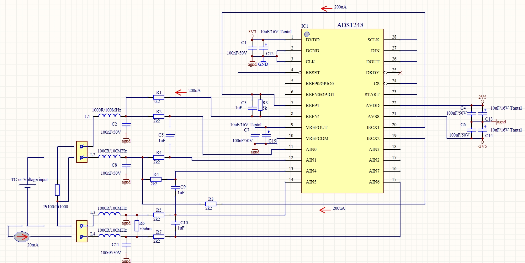 Selec Temperature Controller Ch403 1ntc 36 X 72 Chiller Controller 10a Relay Ssr in addition Measuring Temp Using Thermocouples further 615029 in addition Post wire Ohm Chart 170504 additionally Designing With Thermistors. on rtd sensor voltage