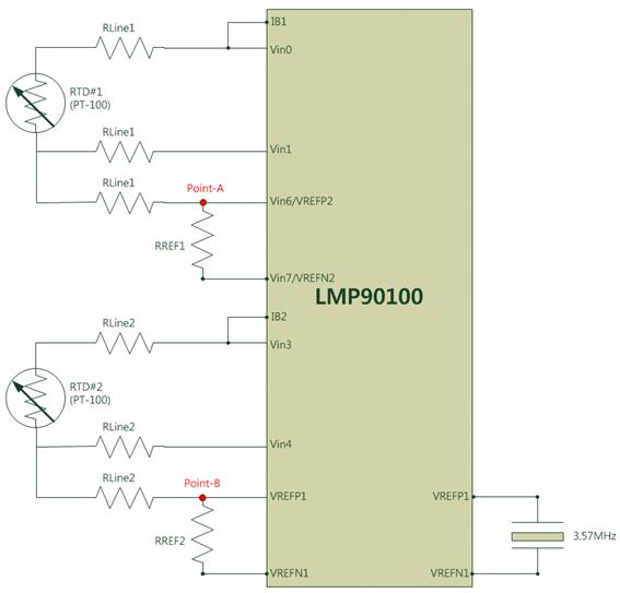Resolved] How do i connect two 3-wire RTDs in a LMP90100 ? - Data ...