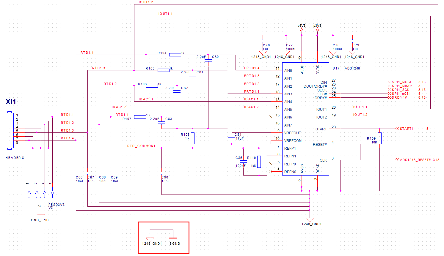 Resolved Ads1248 Schematic For 2 Wire Pt1000 Rtd Data Converters 3 Pin Ptc Wiring Diagram Paolo