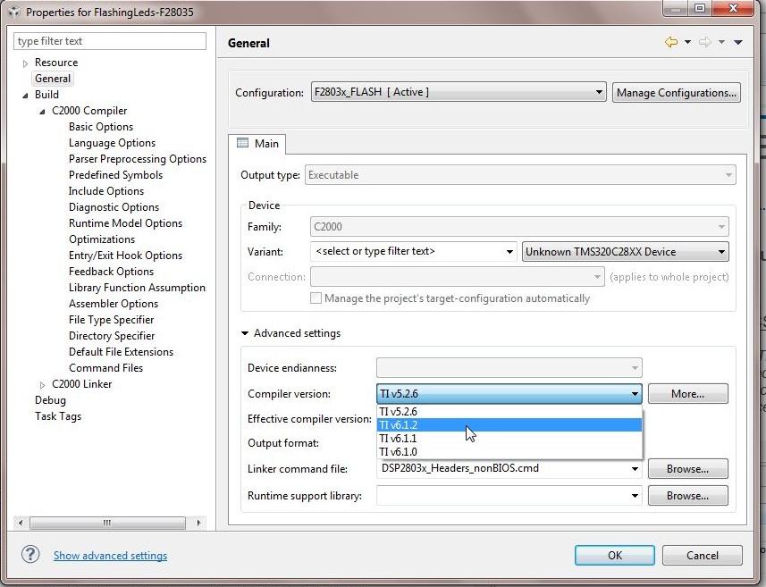 Error when importing Projects - Code Composer Studio™ forum - Code