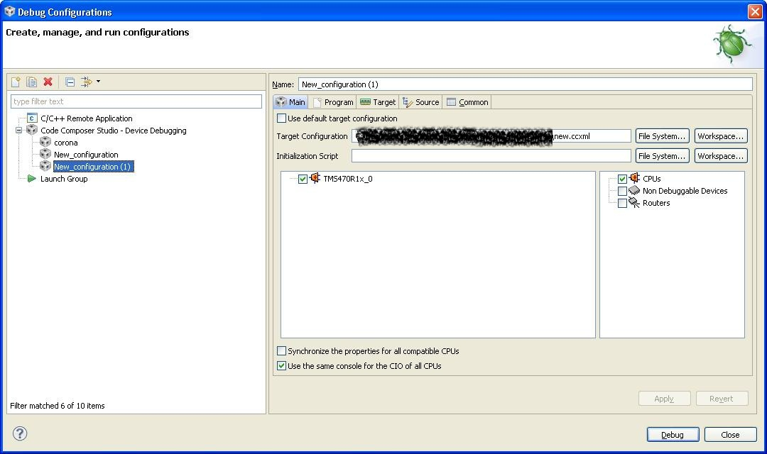 Cant find TMS 570 processor in CCS 5 2 simulator version