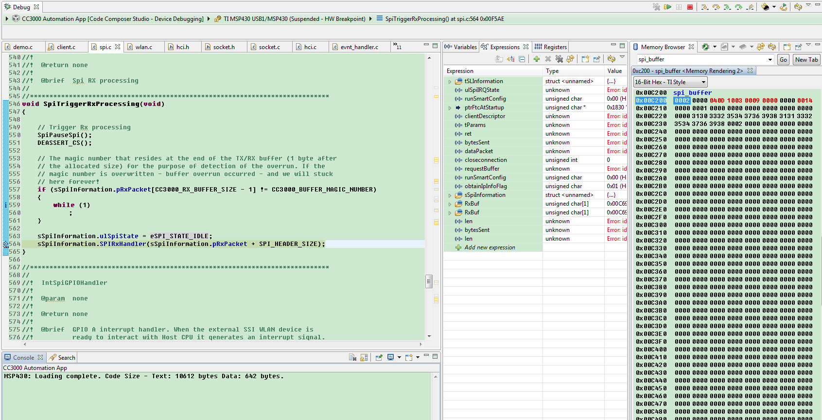 Resolved] CC3000 send() issue - Wi-Fi forum - Wi-Fi - TI E2E