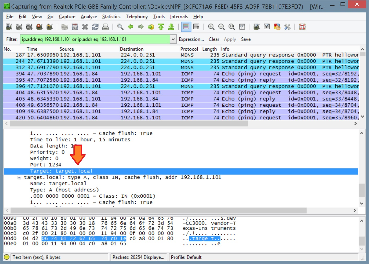how to change color find in wireshark