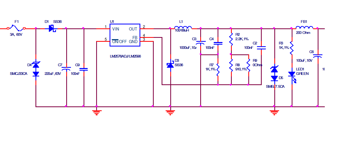 Resolved Lm2576 Voltage Latches To 5v From A 12v