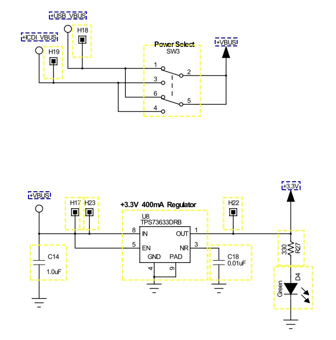 is it possible to connect a v battery directly to the tiva c, schematic