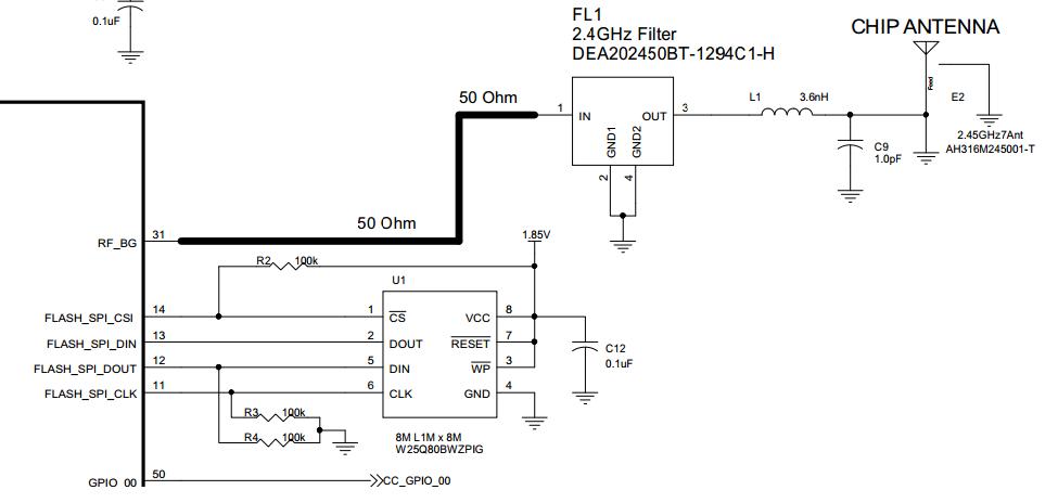 Resolved] CC3200 impedance matching - SimpleLink™ WiFi CC31xx/CC32xx