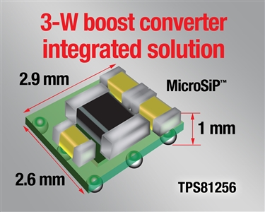 3-W boost converter integrated solution
