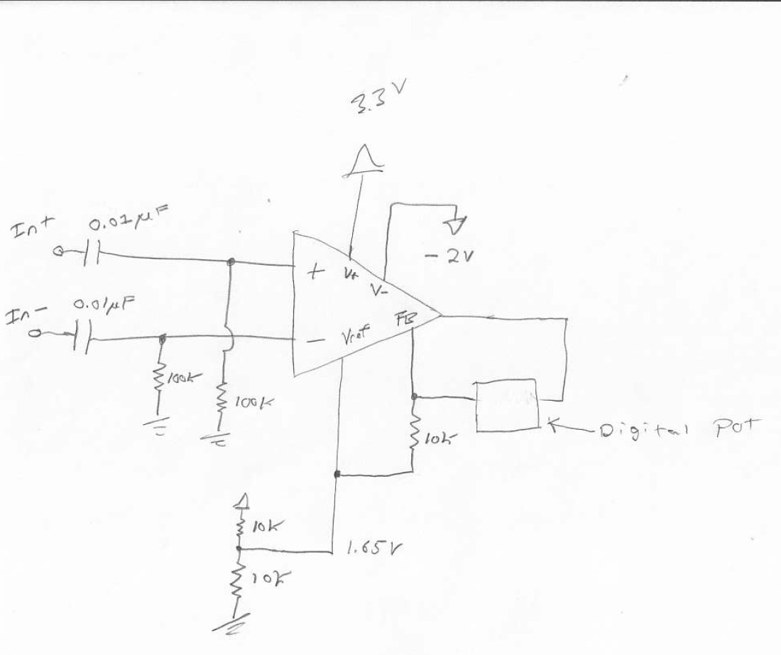 Help With Instrumentation Amp Selection Amplifiers Forum Singlesupply Amplifier I Need To Receive An Ac Coupled Signal From A Differential Sensor Then Apply Gain Of Up 10 The